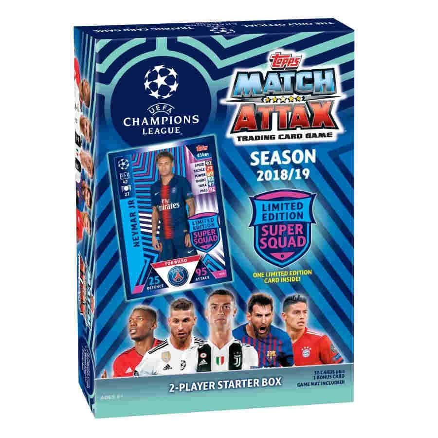 UEFA CHAMPIONS LEAGUE 2018//19 STARTER PACK TOPPS MATCH ATTAX NEW