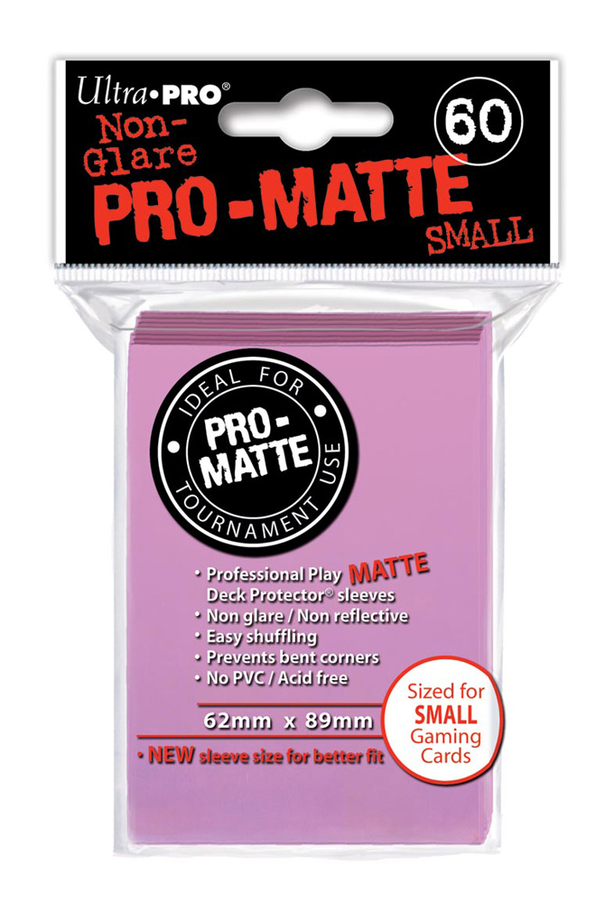 Deck Box 120 Pink Ultra Pro Small Matte Protector Card Sleeves